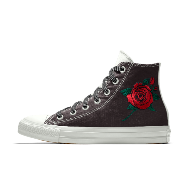 8c37b680058e Converse Custom Chuck Taylor All Star Rose Embroidery High Top Shoe ...