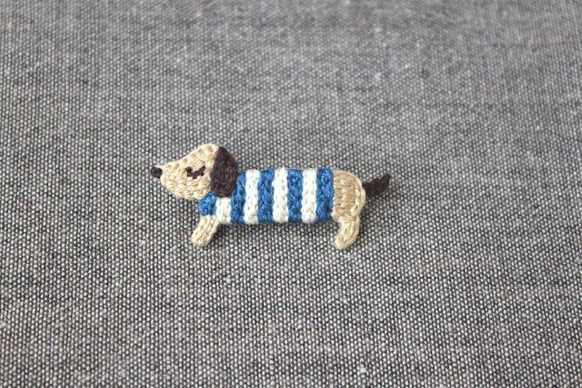 Daddy Doggie Brooch (Blue)