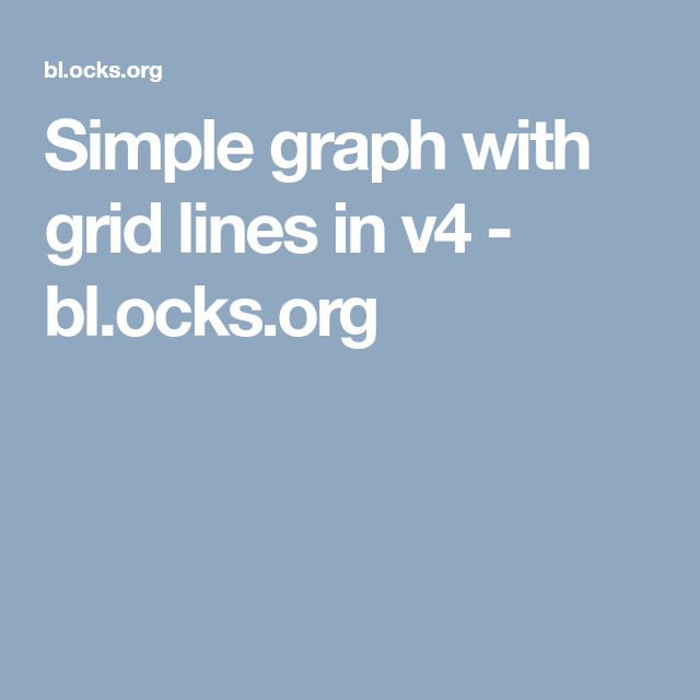 Simple graph with grid lines in v4 - bl ocks org | D3 | Grid