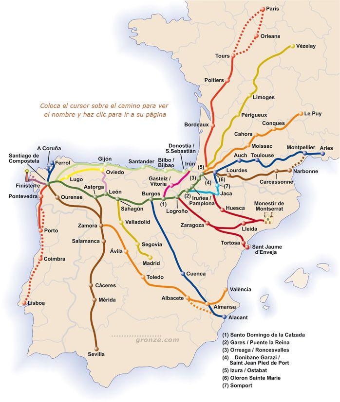 Camino Routes Saint Jacques De Compostelle Camino De Santiago