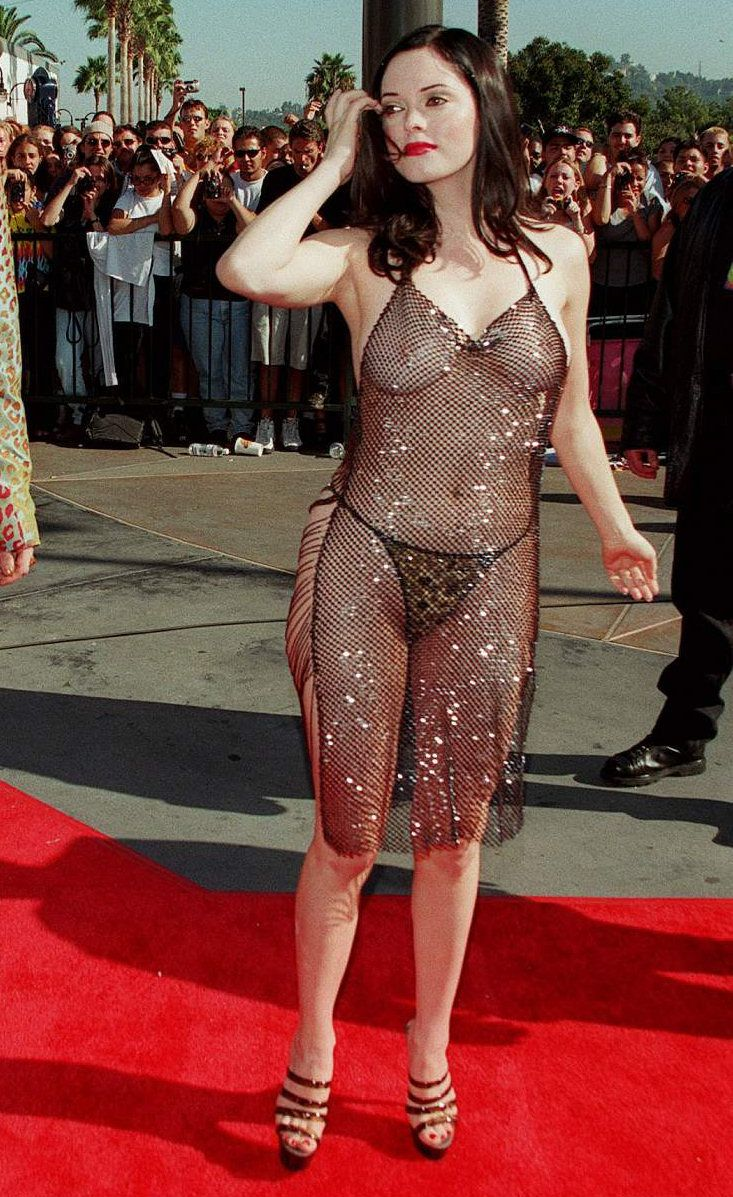 dress Rose mcgowan see through