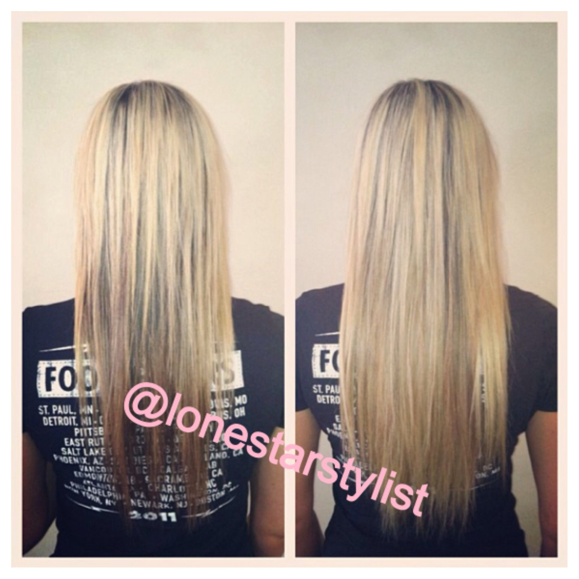 Hair extensions by Teresa cliff