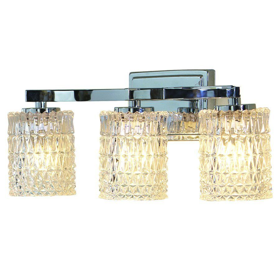 Allen Roth 3 Light Flynn Polished Chrome Bathroom Vanity Light