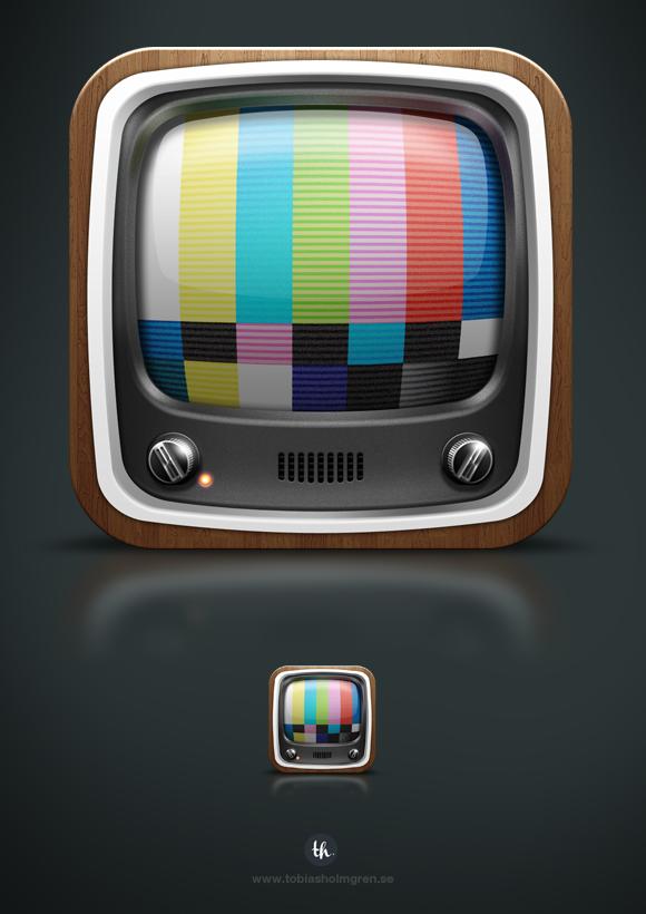 iOS Television icon by Tobias Holmgren, via Behance App