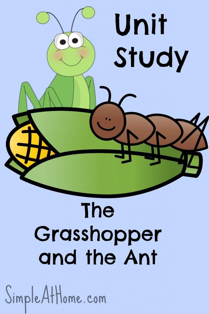 Printable Worksheets the grasshopper and the ant worksheets : The Grasshopper and the Ant Unit Study | Unit studies, Ant and ...