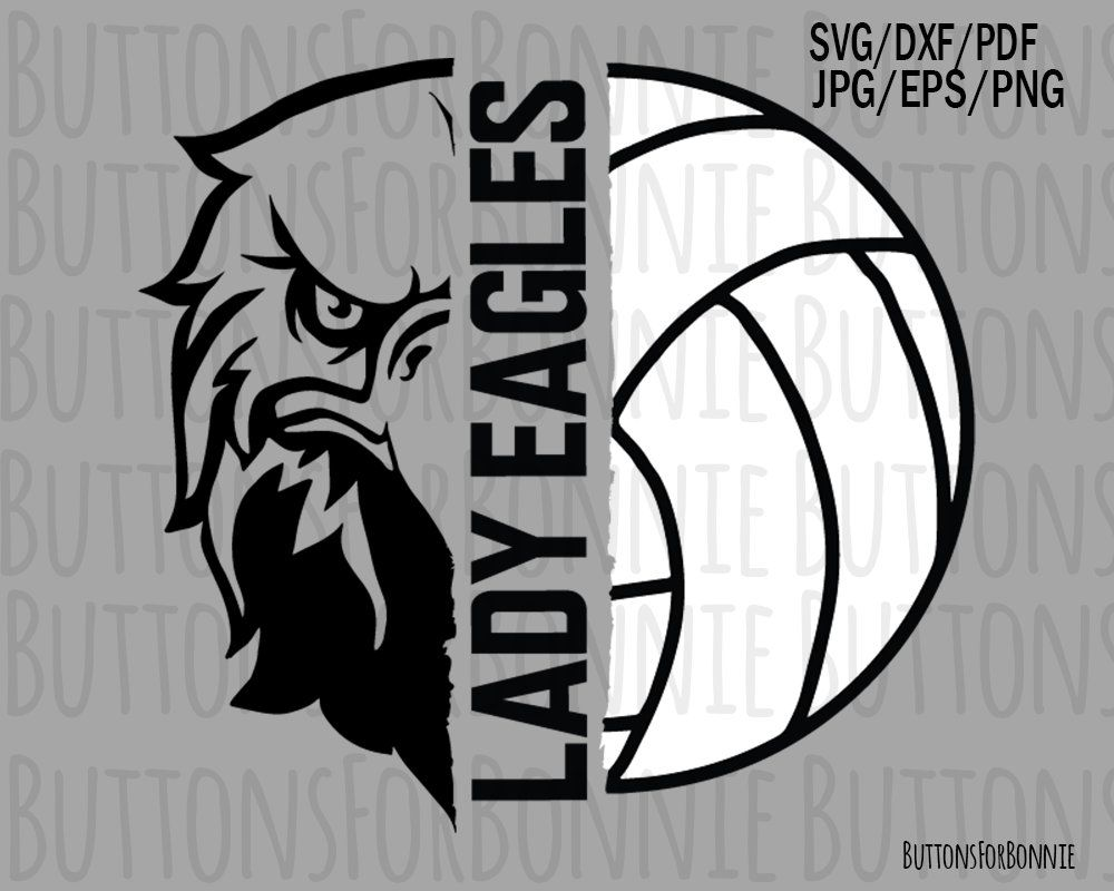 a66c4d3f1 lady eagles Volleyball SVG, Volleyball Mom, volleyball svg, cutting file,  cricuit, vector, emblem, iron on, shirt design, mascot svg by  ButtonsForBonnie on ...