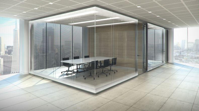 Glass Enclosed Conference Room Room Home Home Decor