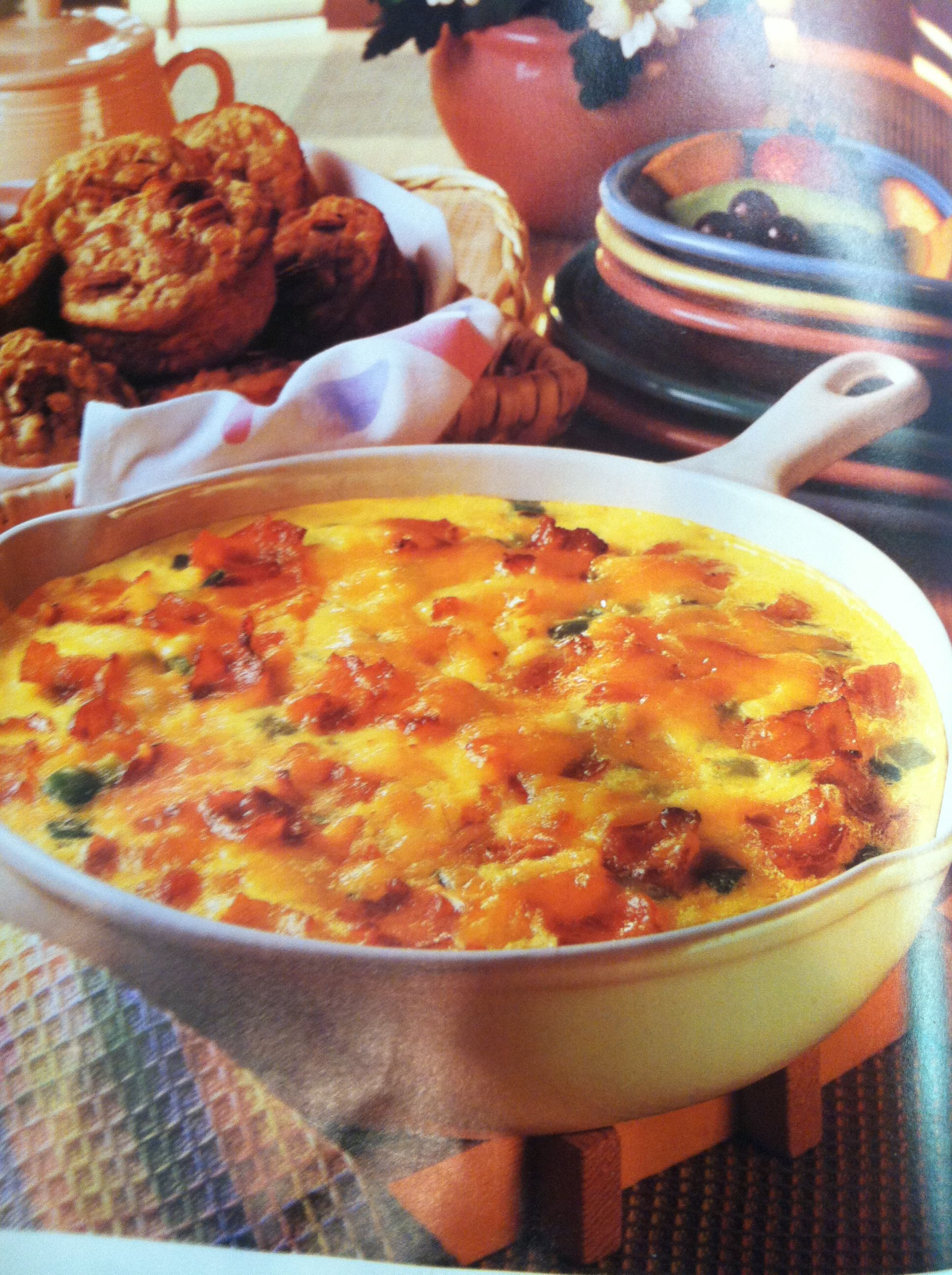 our traditional christmas breakfast egg frittata