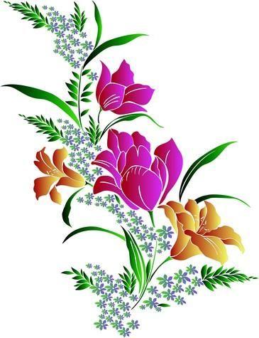 magnifique bouquet de fleurs dessiner fleurs arbres. Black Bedroom Furniture Sets. Home Design Ideas