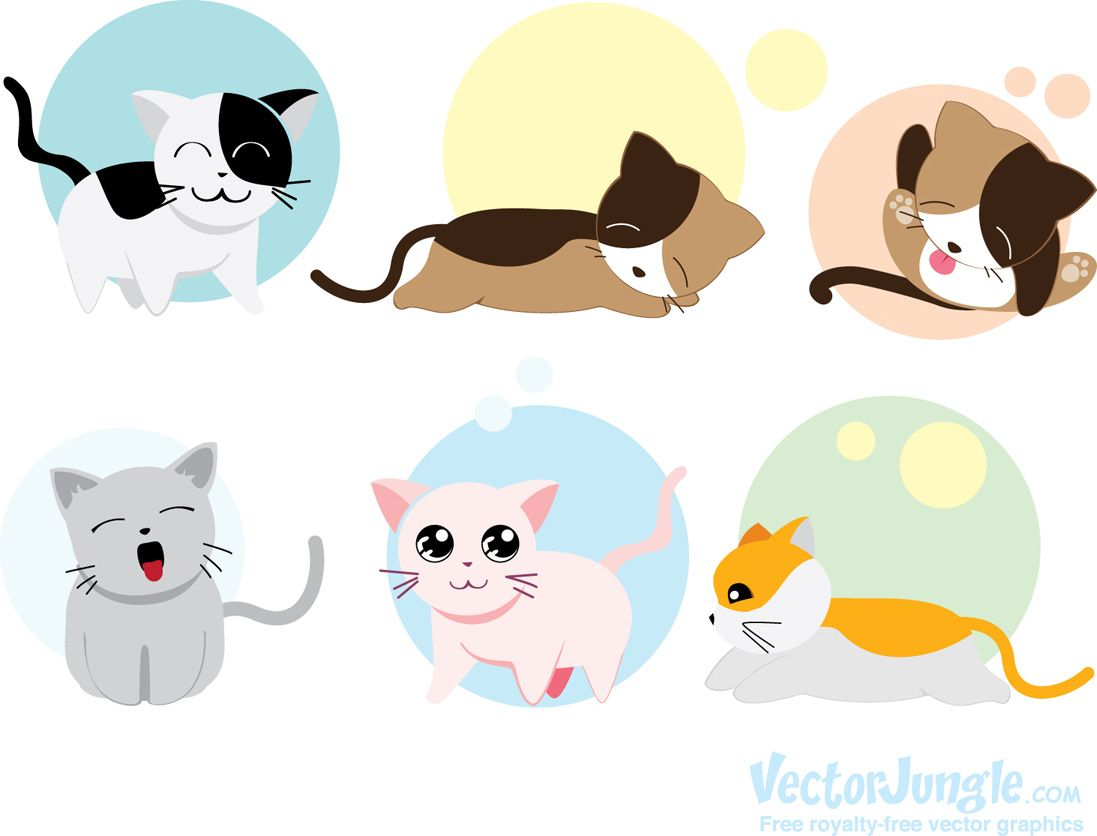 Free Cat Icons (Vector) for Your Meowelous Projects http://blog ...