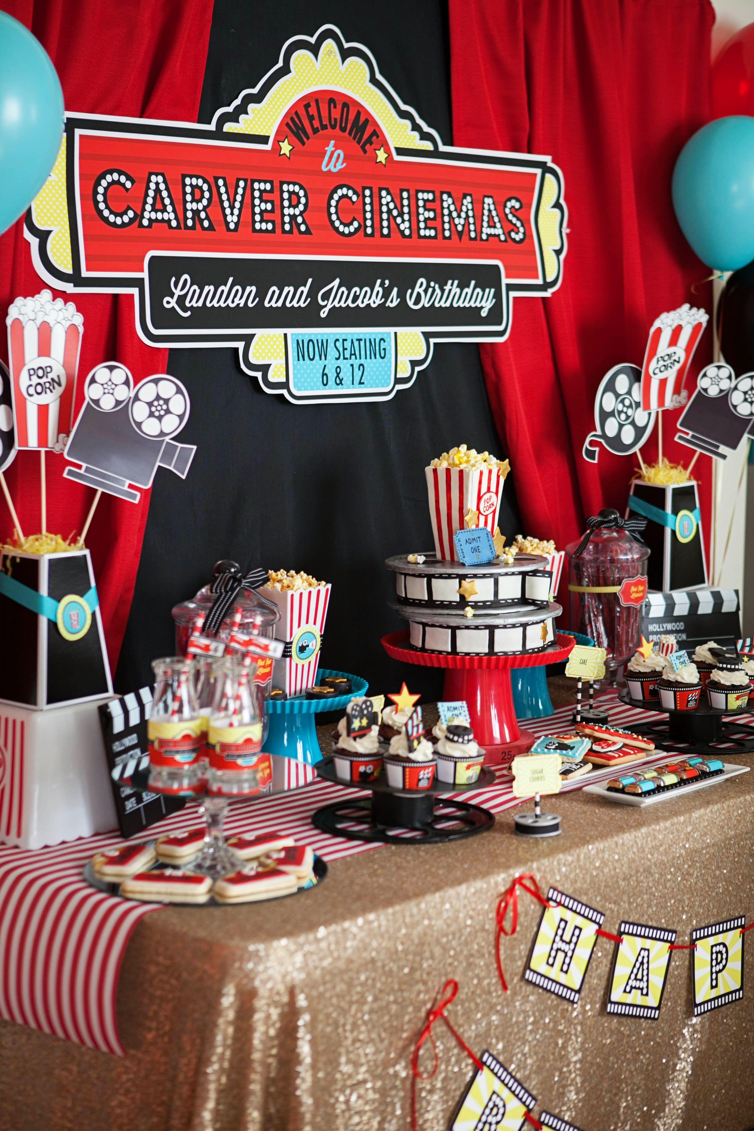 A Hollywood Movie Themed Party Movie Birthday Party Movie Themed Party Movie Theme Birthday Party