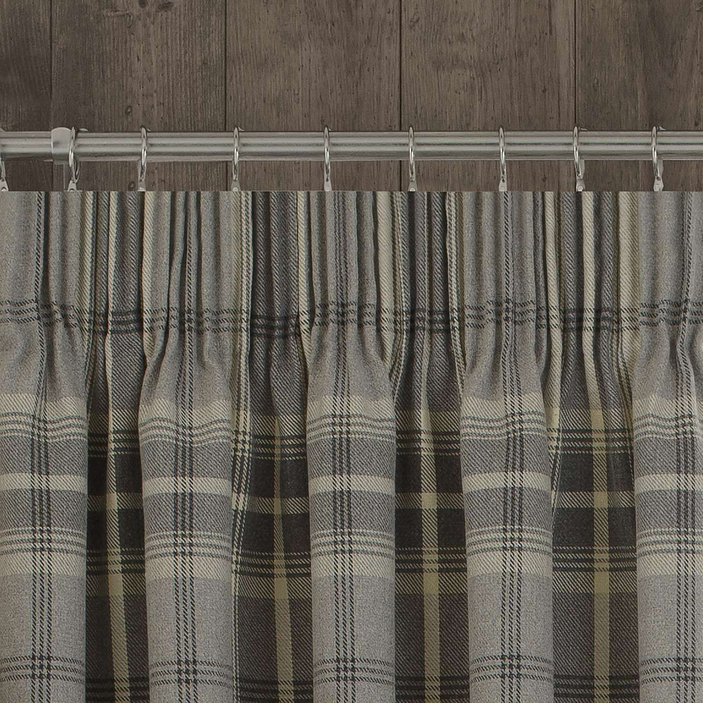 Highland Check Dove Grey Pencil Pleat Curtains In 2020 Grey Pencil Pleat Curtains Pleated Curtains Pencil Pleat
