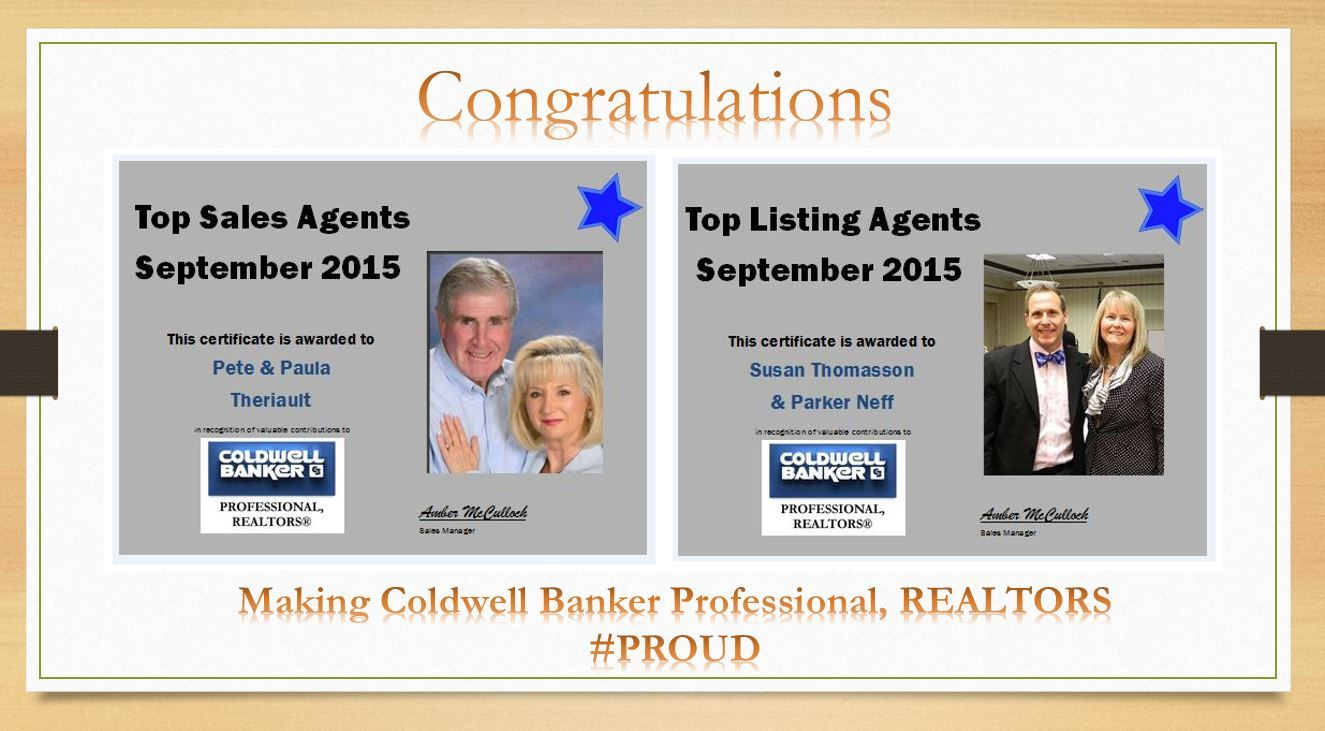 September Top Agents Call us Award Winning Agents