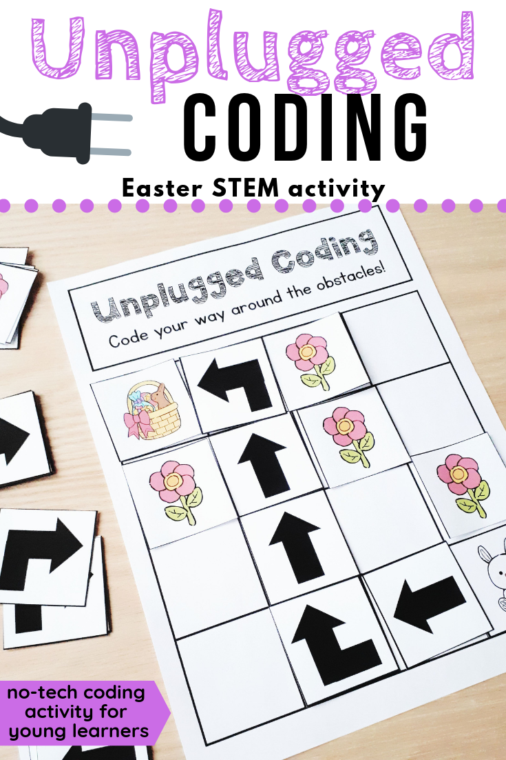 Unplugged Coding Easter Stem Activity Unplugged Coding Activities Computer Coding For Kids Coding For Kids [ 1102 x 735 Pixel ]