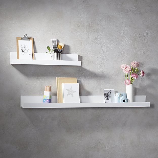 Shop Piano White Wall Shelf 24 Super Chic White Lacquered Ledge