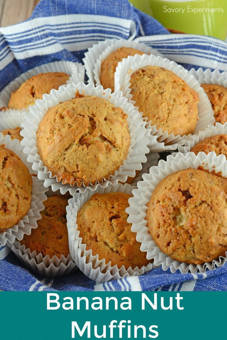 Classic Banana Nut Muffins are the perfect use for overripe bananas. Whip them up for breakfast with just a few simple ingredients you already have in your pantry!