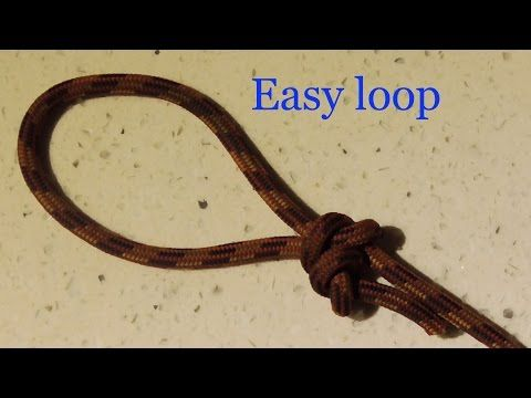 The Best Loop Knot To Tie If You Can't Tie Knots - WhyKnot - YouTube