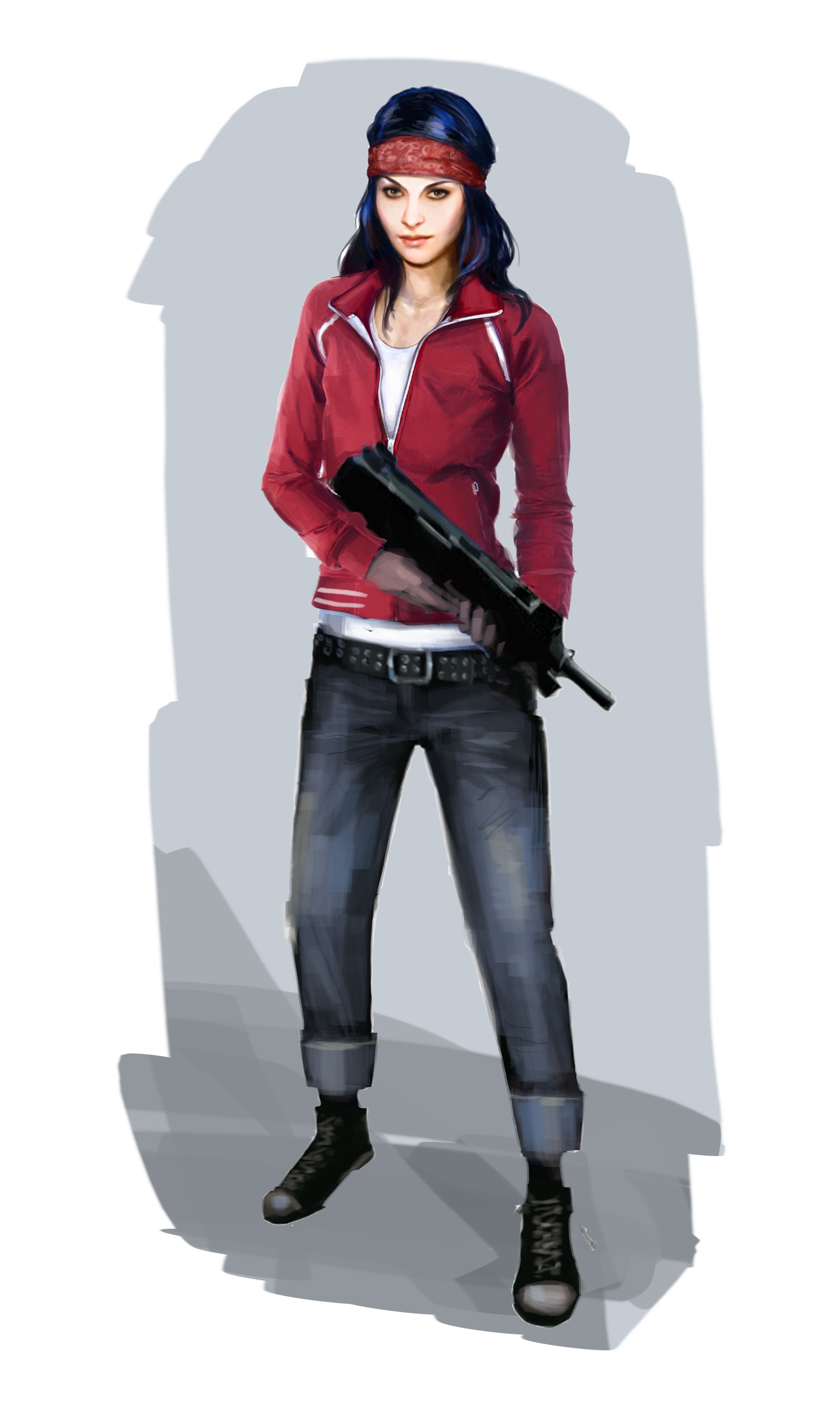 This is the zoey character from l4d who is probably a little