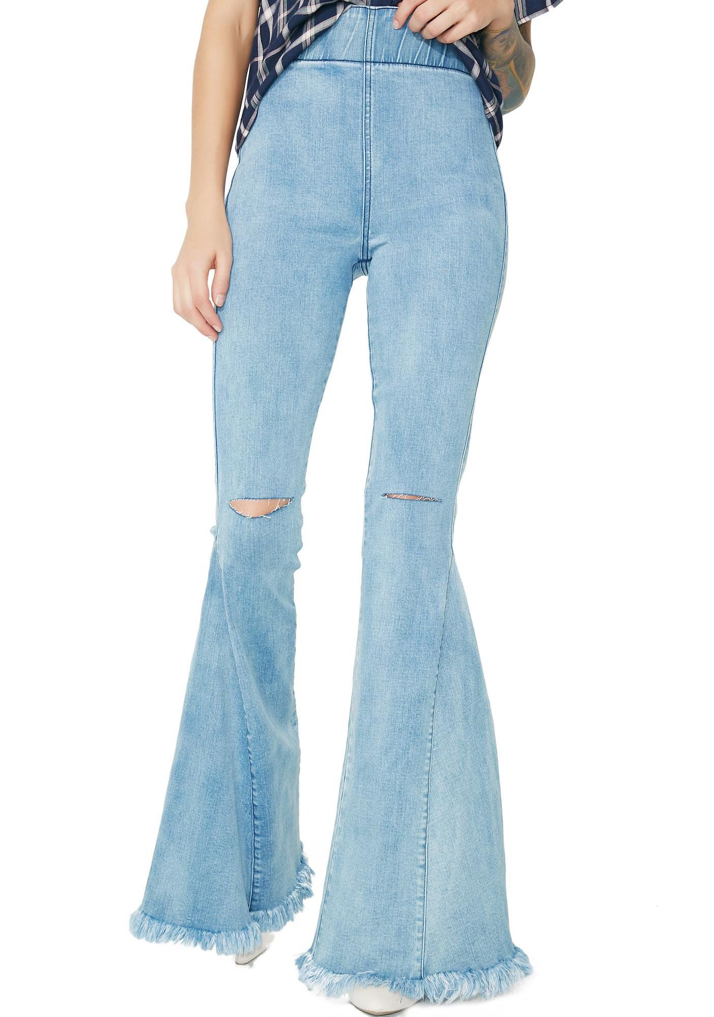 Cloud Nine Ring My Bell Flared Pants | Denim flare jeans