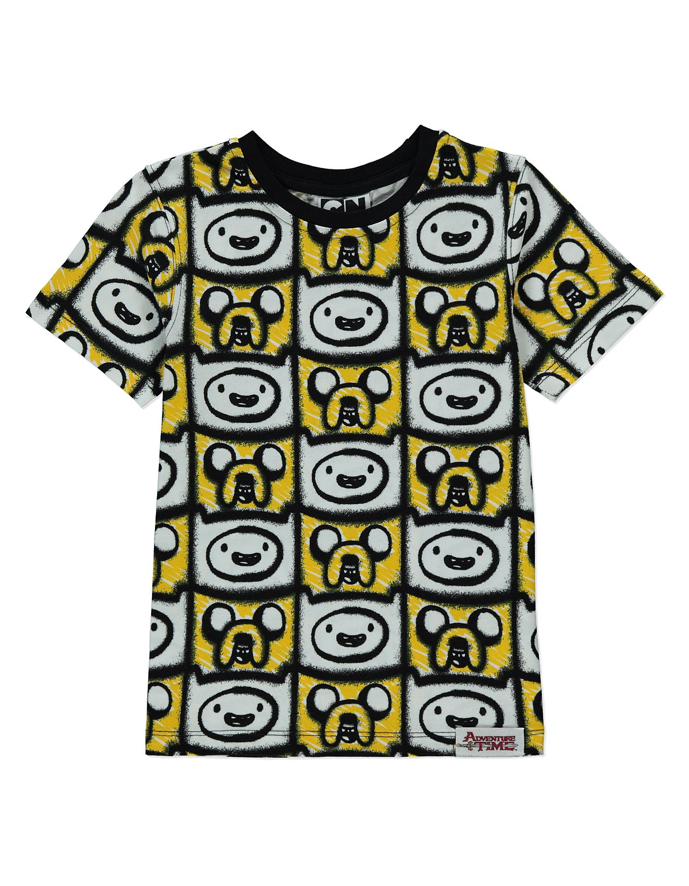 Black t shirt asda - Adventure Time T Shirt Kids George At Asda