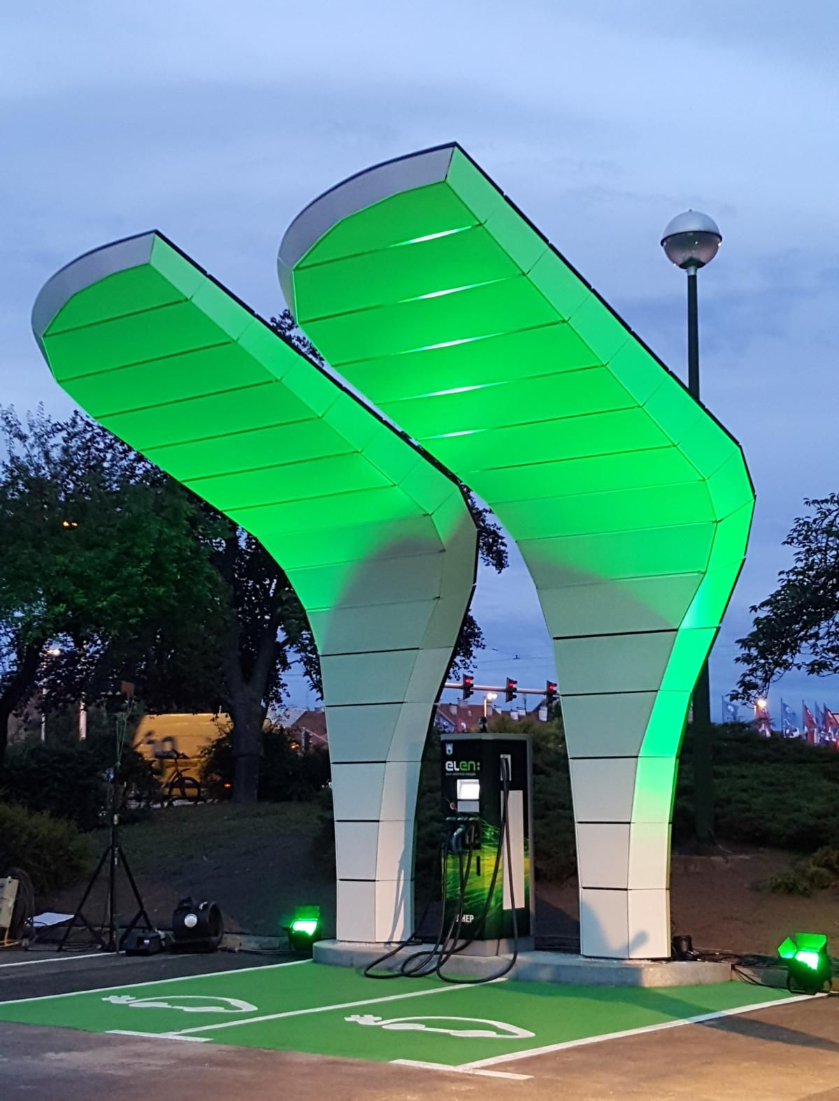 First SolarPowered Electric Vehicle Charging Station in