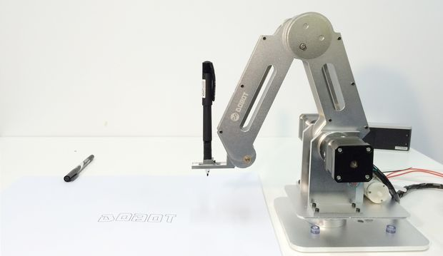 Build a laser cut and soldering dobot robot arm want