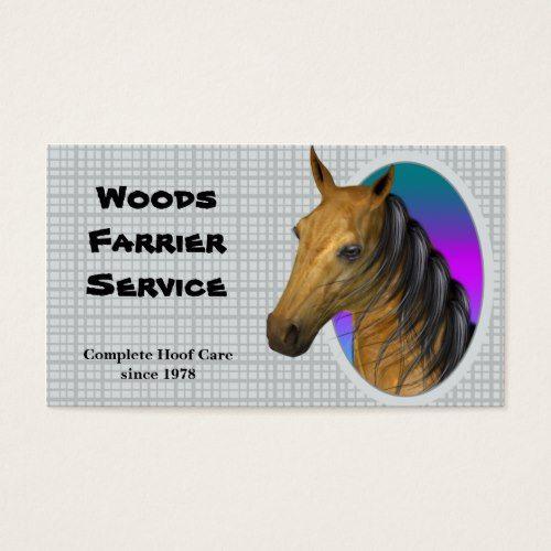 Horse Farrier Business Card Business Cards Pinterest