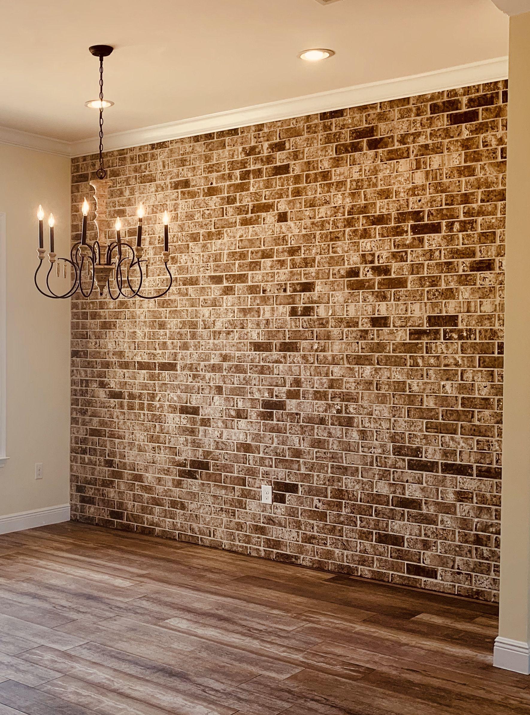 Brick Accent Wall Dining Room Brick Accent Walls Brick Wall