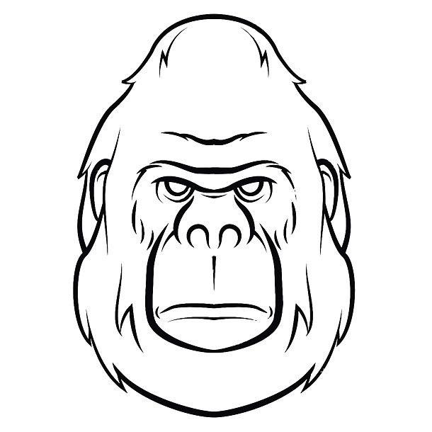 500 Masculine Tattoo Designs For Men And Guys Simple Gorilla Face Monkey Tattoos Gorilla Tattoo Designs Men
