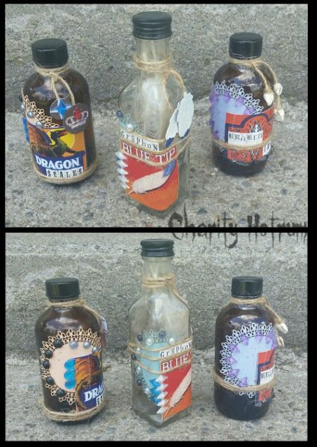 altered mini bottle tutorial