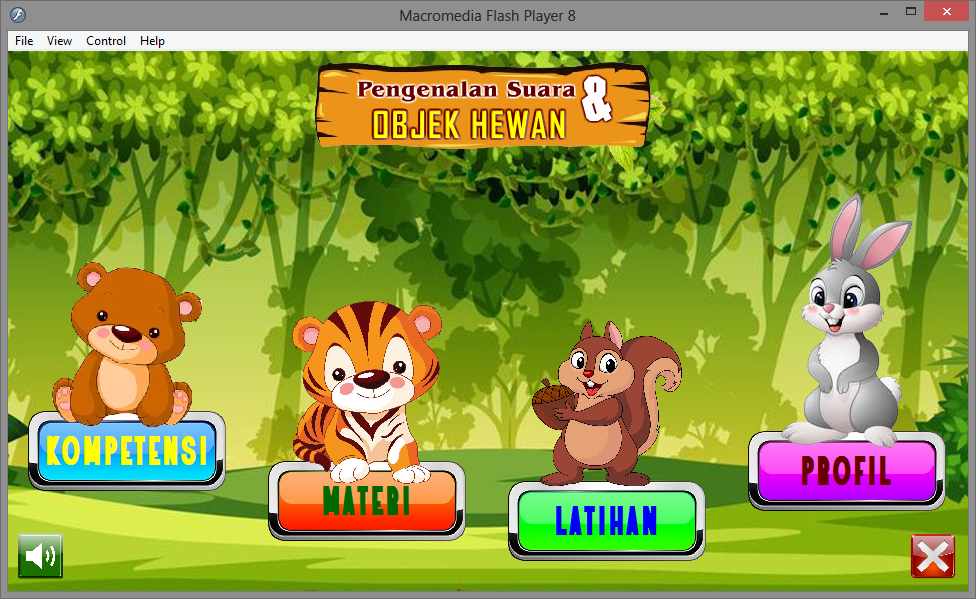 Aplikasi Multimedia Interaktif Pengenalan Suara Hewan Untuk Anak Game Edukasi Multimedia Flash