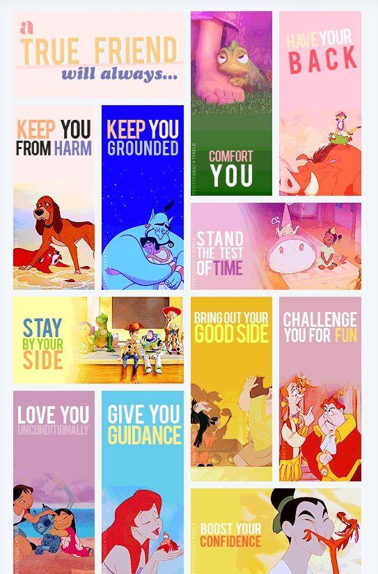 True friend - Disney style.