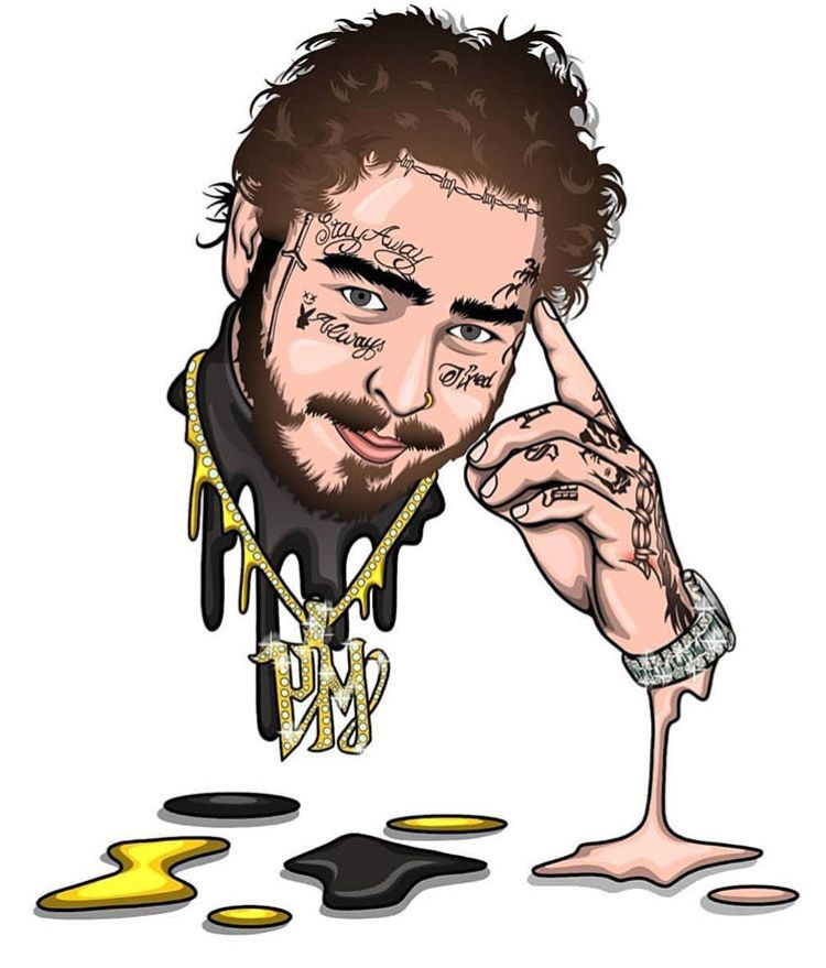 Post Malone Drawing: Pin στον πίνακα P O S T Y