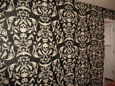 Gothic Wallpaper A Little Over Poweringbut Cool Maybe As Feature Wall
