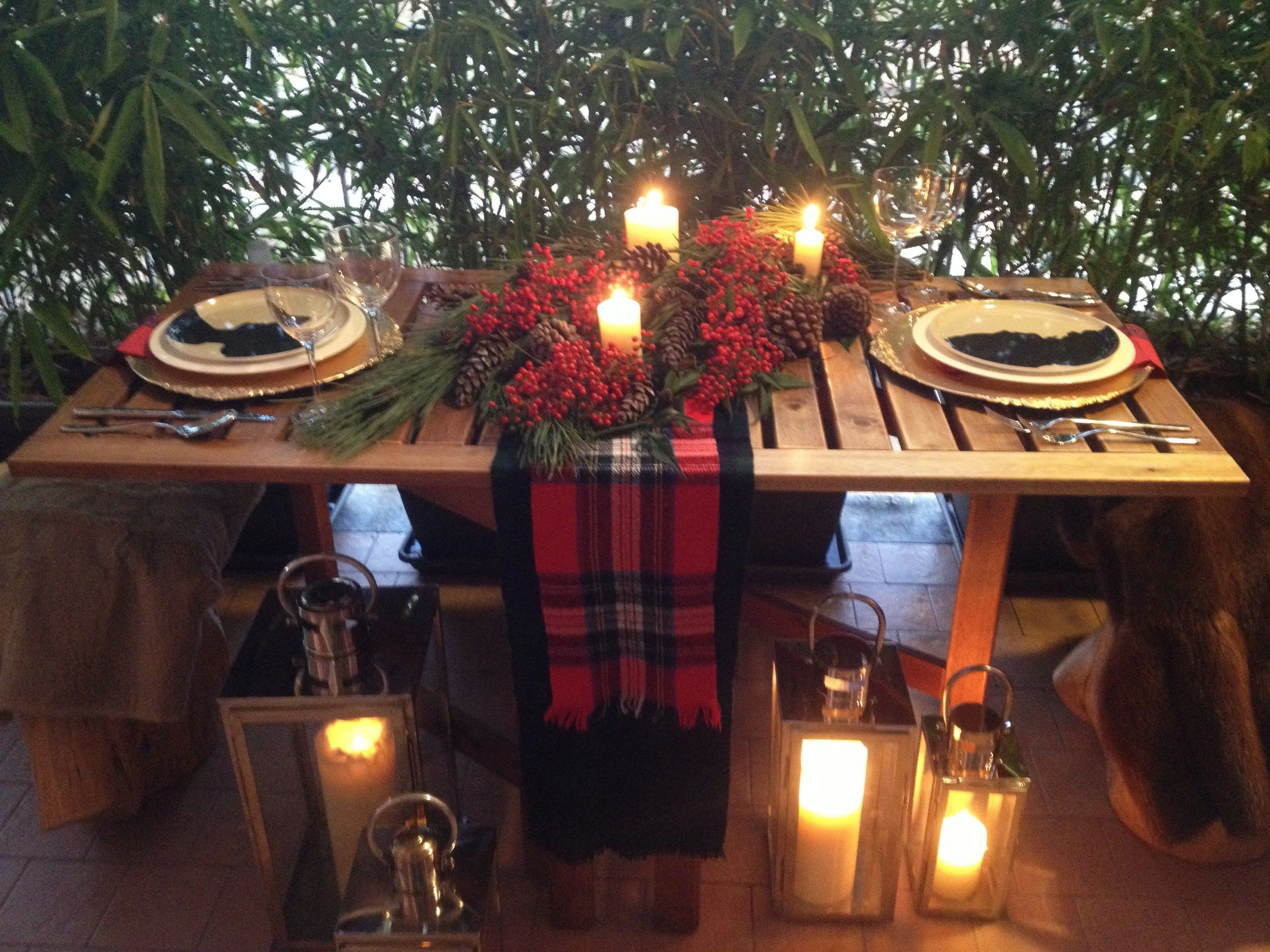 Romantic Christmas Table Setting For Two Christmas Table Settings Christmas Table Christmas Table Decorations