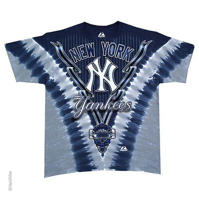 5a6d7a832 This cool tie dyed New York Yankees t-shirt is made by Liquid Blue with  beautiful vivid team colors. Reminiscent of the 1970 s.