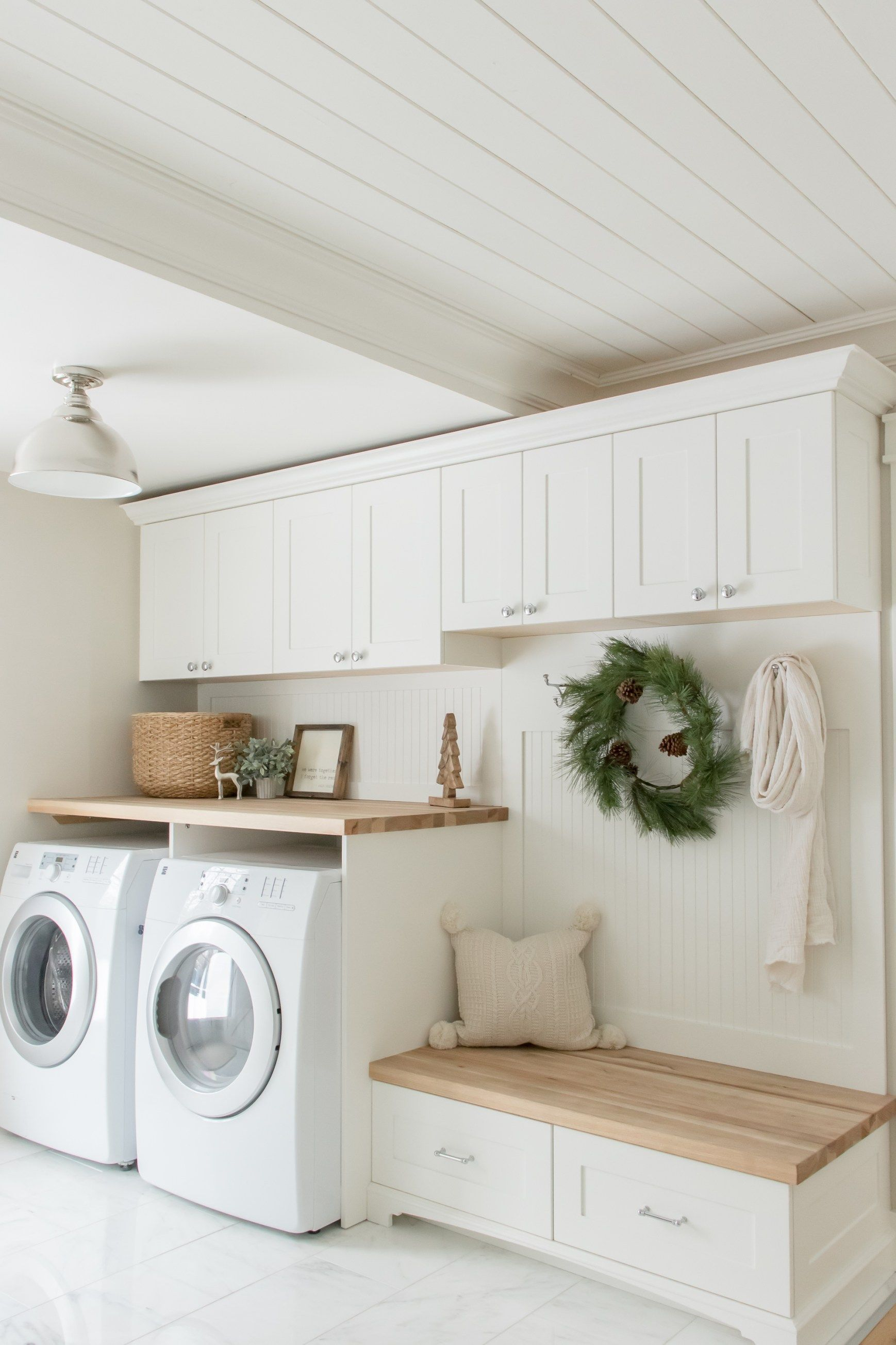 simple cozy farmhouse christmas home tour laundry room on effectively laundry room decoration ideas easy ideas to inspire you id=54790
