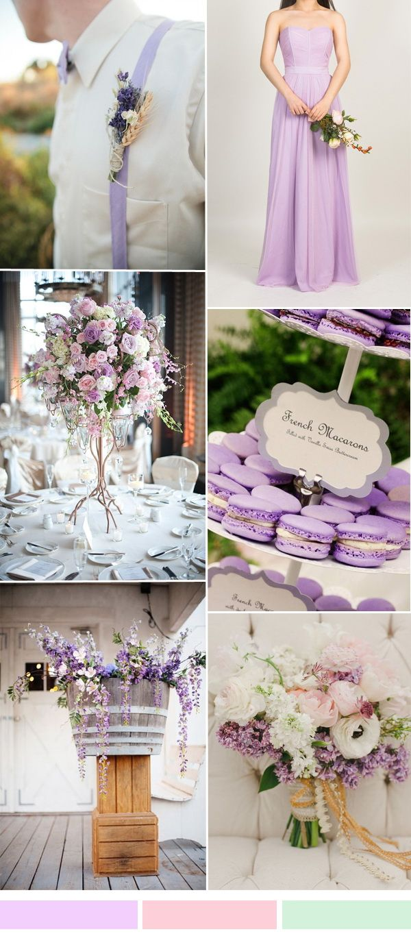Lilac Purple Wedding Color Ideas And Tulle Bridesmaid Dresses