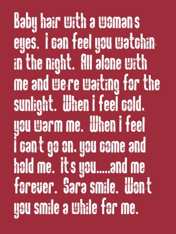 Hall & Oates - Sara Smile - song lyrics, song quotes, songs, music ...