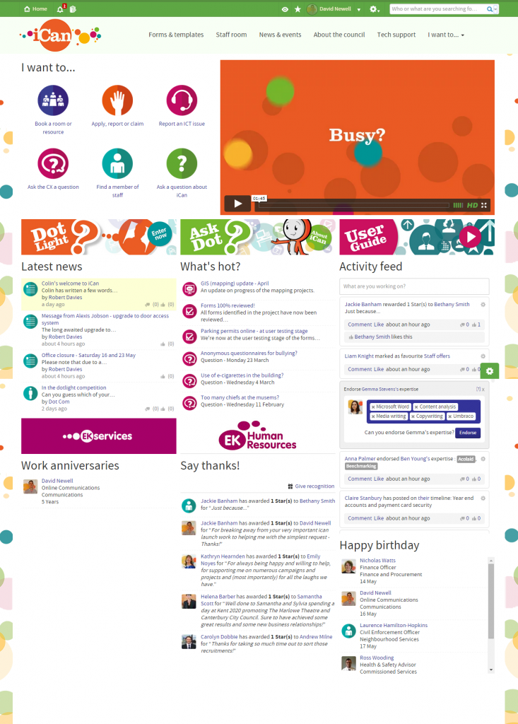 Canterbury City Council: 7 Of The Best Intranet Examples Guaranteed To  Improve Employee Engagement