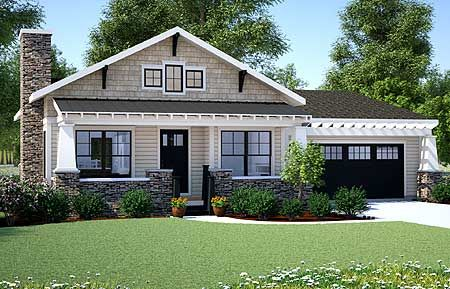 Plan 18267BE Simply Simple One Story Bungalow Craftsman House