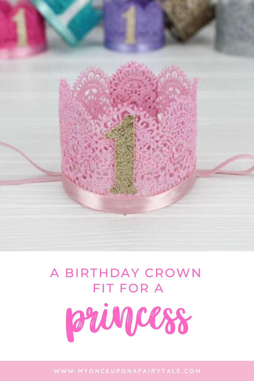 1st Birthday Lace Mini Crown First Birthday Party Crown Etsy Birthday Gifts For Girls 1st Birthday Mini Crown