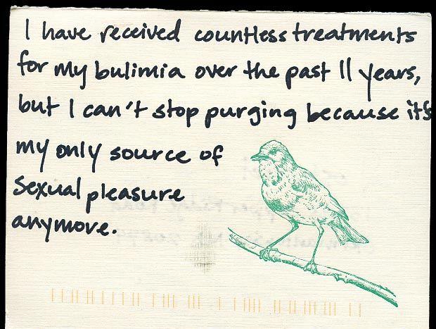 bird. Secret from PostSecret.com