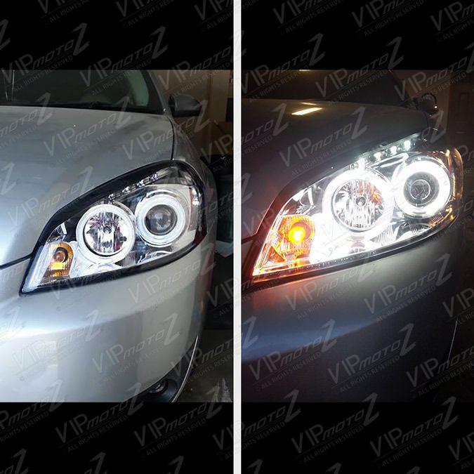 Euro Chrome Projector Headlight Lamps Ccfl Halo Led Drl 06 13 Chevy Impala Chevy Impala Projector Headlights Impala
