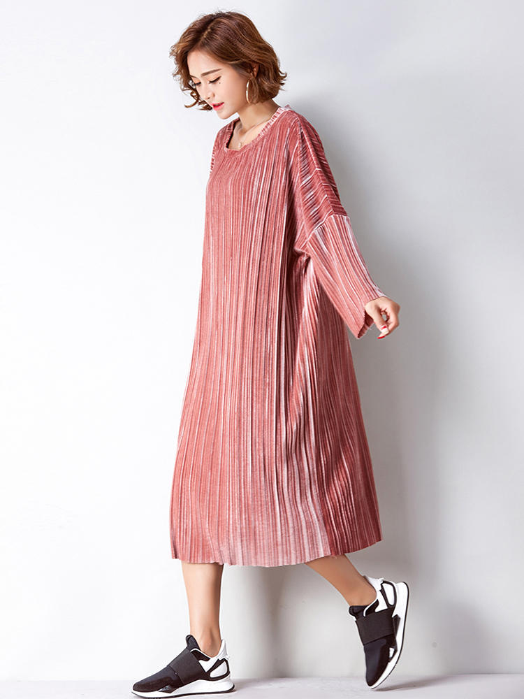 d8b1b38432d Plus Size Women Elegant Gold Velvet Dress - Banggood Mobile