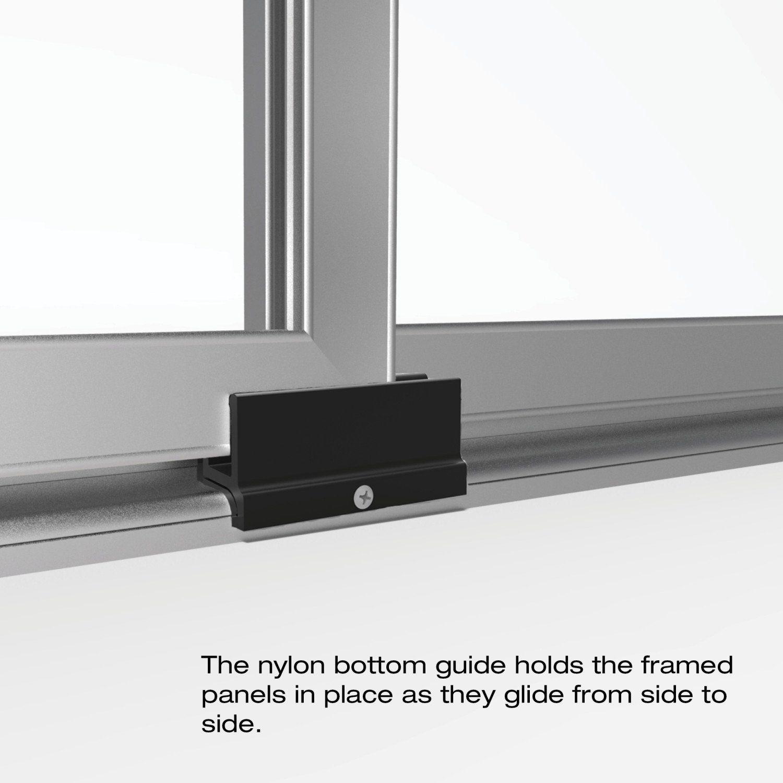 Basco Infinity Shower Door Framed Obscure Glass Sliding Door Brushed
