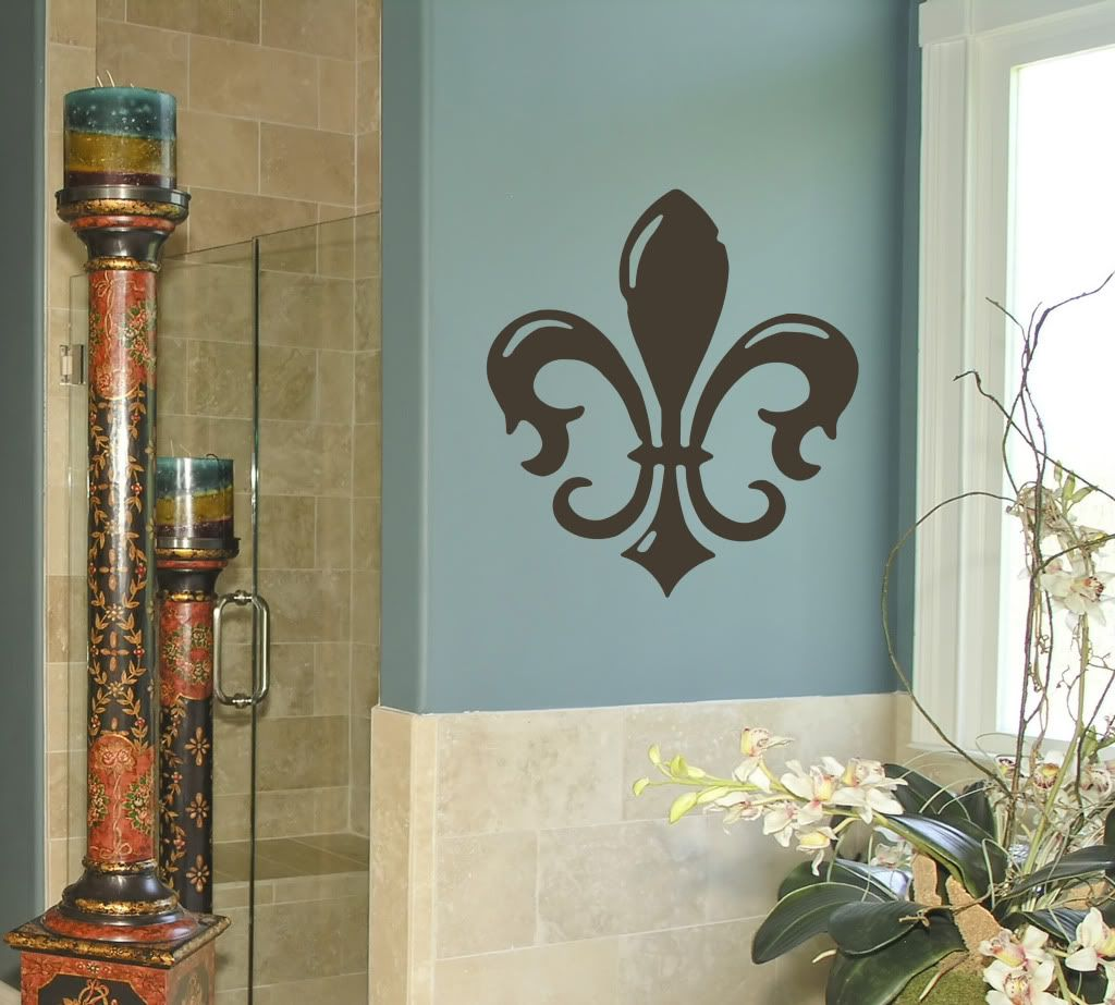 Fleur de lis leblu beauty ink me pinterest wall decals and walls