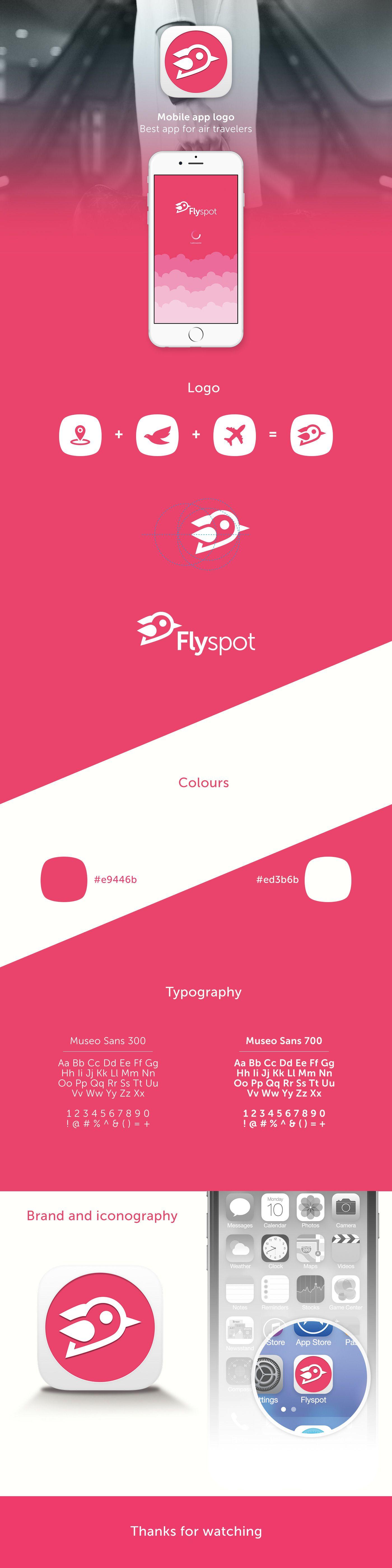 Flyspot app logo design on behance also designs pinterest diseno de rh co