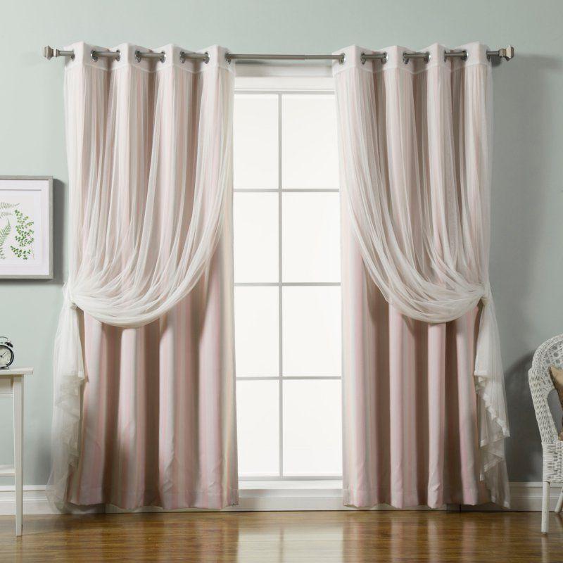 Best Home Fashion Vertical Stripe Room Darkening Mix And Match