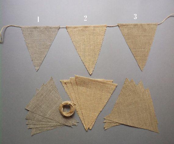 Diy Blank Triangle Burlap Flag Banner Bunting Set Of 1